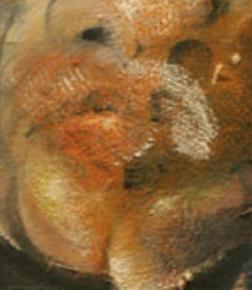 Detalle de un autorretrato de Francis Bacon